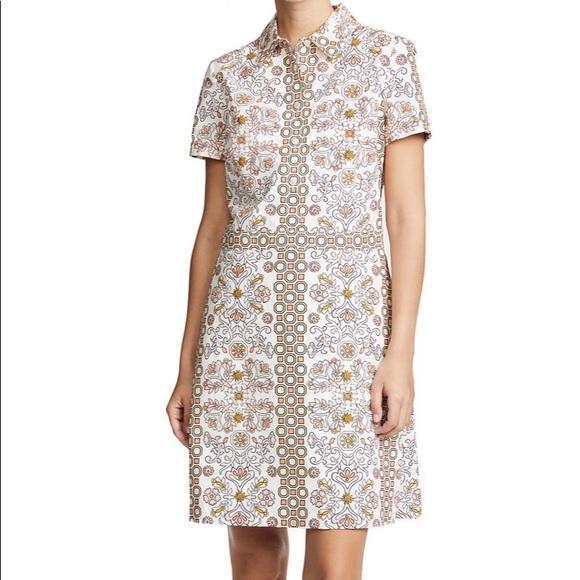 1e07cb35a Tory Burch Dresses | Port Shirt Dress Hicks Garden Sz 4 | Poshmark